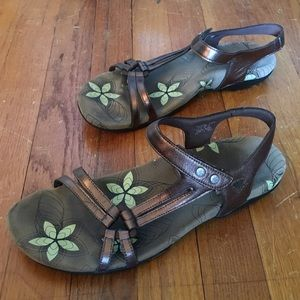 Abeo Fantine Bronze Women's Sandals Sz 10